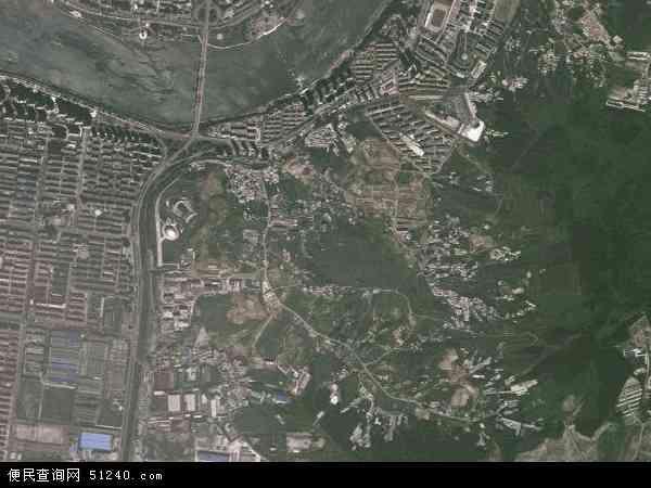 中国吉林省吉林市丰满区江南乡地图(卫星地图)