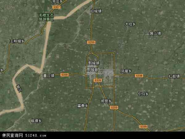 鄄城县地图 - 鄄城县卫星地图
