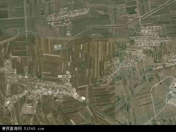 中国吉林省白城市洮北区林海镇地图(卫星地图)