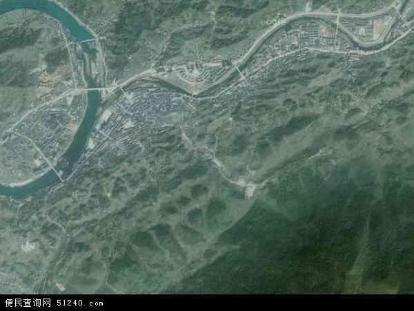中国湖南省张家界市桑植县澧源镇地图 卫星地图
