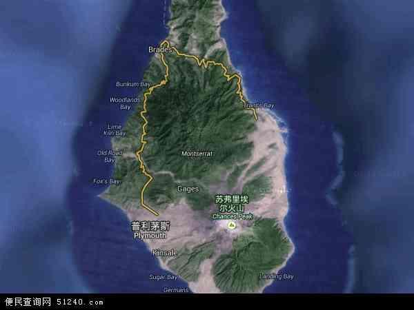 蒙特塞拉特卫星地图 - 蒙特塞拉特高清卫星地图 - 蒙特塞拉特高清航拍地图 - 2016年蒙特塞拉特高清卫星地图