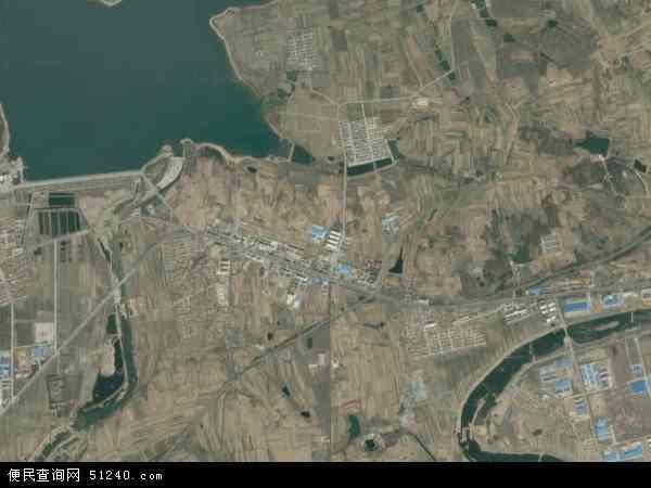 中国山东省威海市文登市米山镇地图(卫星地图)