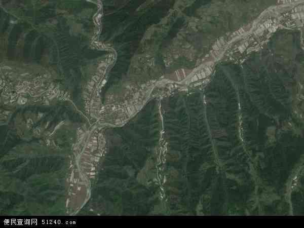 中国陕西省宝鸡市凤县平木镇地图(卫星地图)