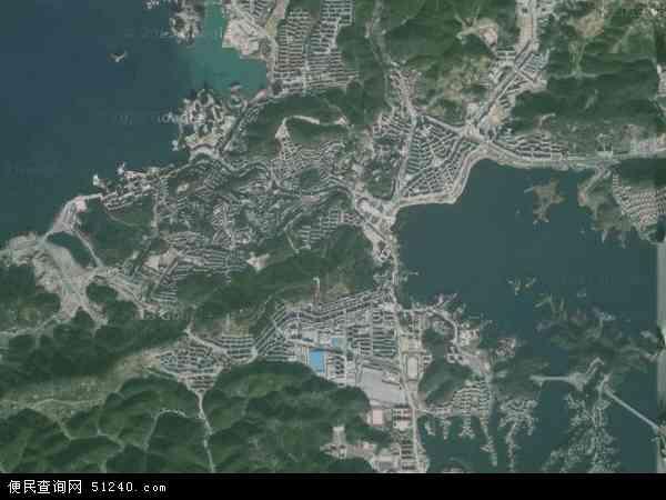 千岛湖镇地图 - 千岛湖镇卫星地图