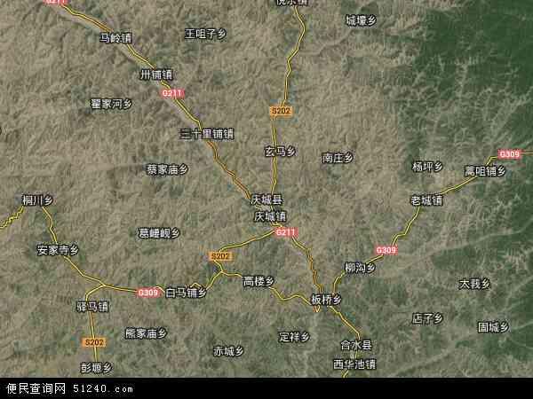 庆城县地图 - 庆城县卫星地图