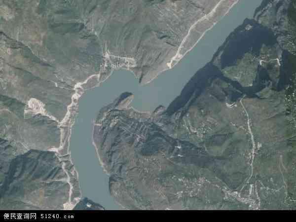 中国四川省凉山彝族自治州金阳县热水河乡地图