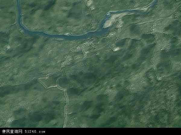 中国广西壮族自治区河池市宜州市三岔镇地图(卫星地图)