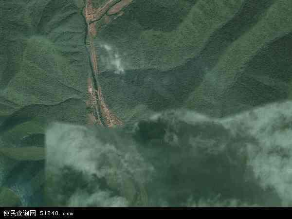 中国吉林省白山市浑江区三道沟镇地图(卫星地图)