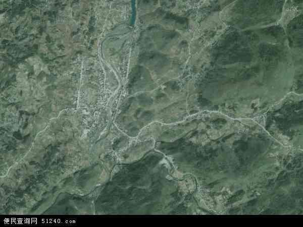 中国湖北省恩施土家族苗族自治州宣恩县沙道沟镇地图(卫星地图)