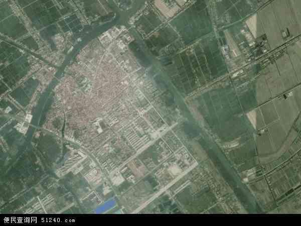 中国江苏省盐城市建湖县上冈镇地图(卫星地图)