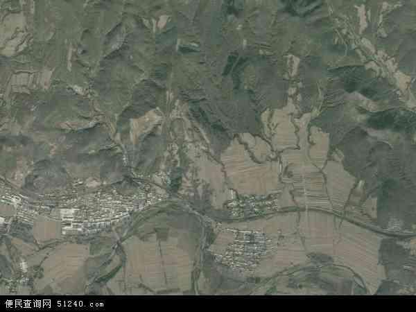 中国辽宁省朝阳市北票市上园镇地图(卫星地图)
