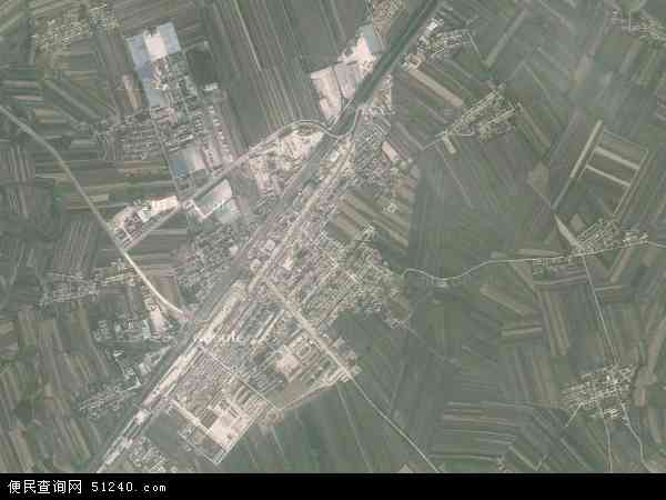 中国吉林省四平市梨树县十家堡镇地图(卫星地图)