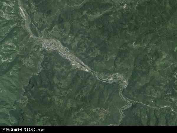 中国陕西省安康市岚皋县石门镇地图(卫星地图)