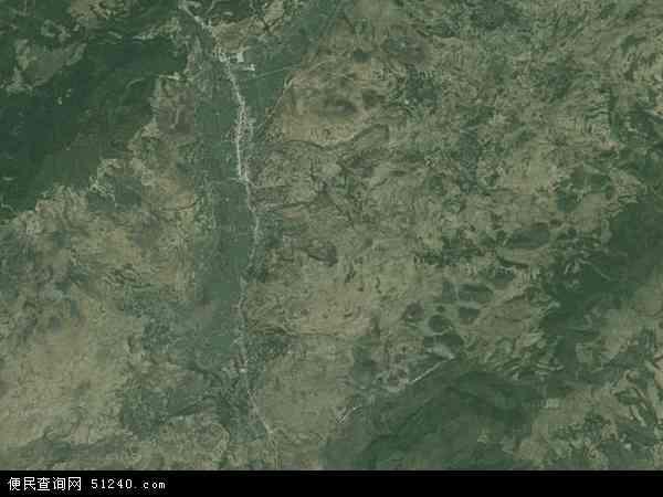 中国贵州省毕节市七星关区田坝镇地图(卫星地图)