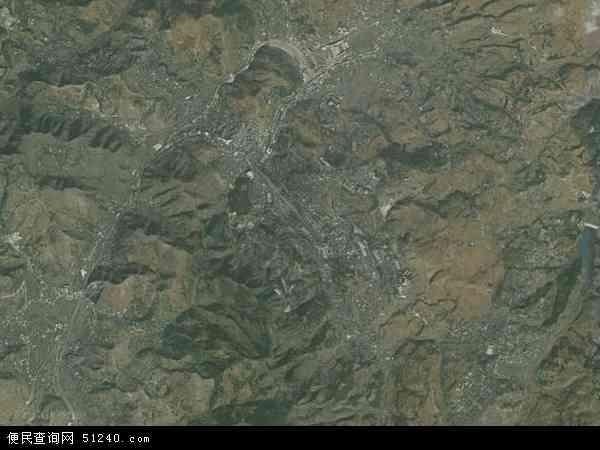 中国云南省曲靖市宣威市田坝镇地图(卫星地图)