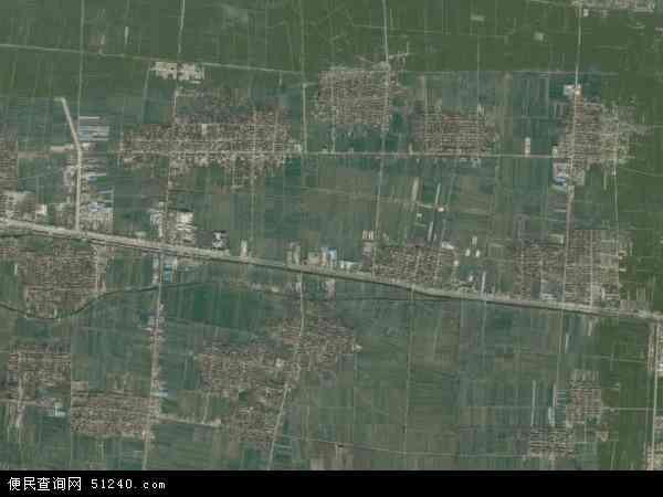 中国山东省菏泽市曹县桃源集镇地图(卫星地图)