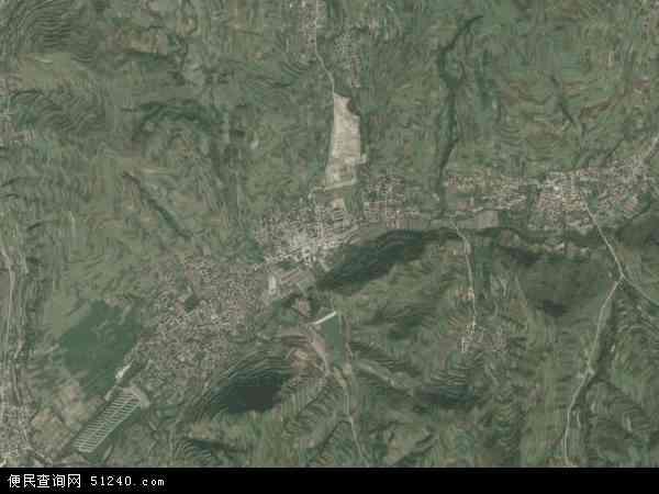 中国青海省海东市互助土族自治县五峰镇地图(卫星地图)