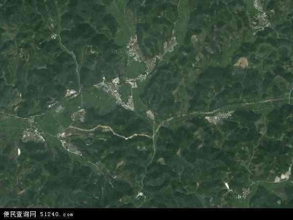 中国广东省肇庆市德庆县武垄镇地图(卫星地图)