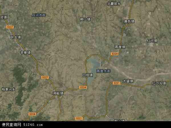 中国山东省潍坊市安丘市吾山镇地图(卫星地图)