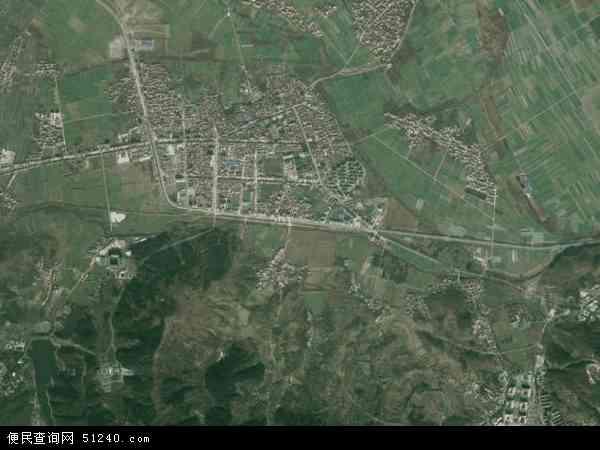 中国湖北省襄阳市襄城区卧龙镇地图(卫星地图)