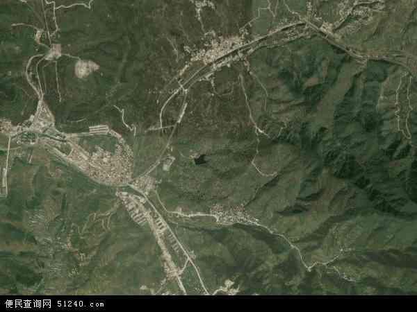 中国山东省济南市历城区西营镇地图(卫星地图)图片