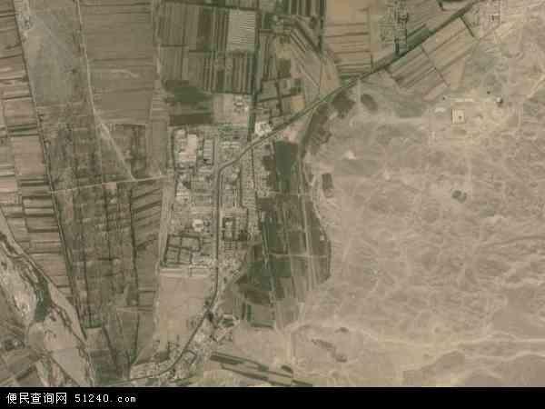 中国青海省海西蒙古族藏族自治州都兰县香日德镇地图(卫星地图)