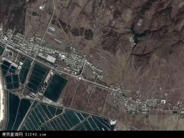 中国辽宁省大连市瓦房店市仙浴湾镇地图(卫星地图)