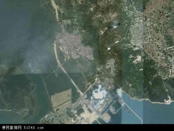 柘林镇2016年卫星地图 中国广东省潮州市饶平县柘林镇地图