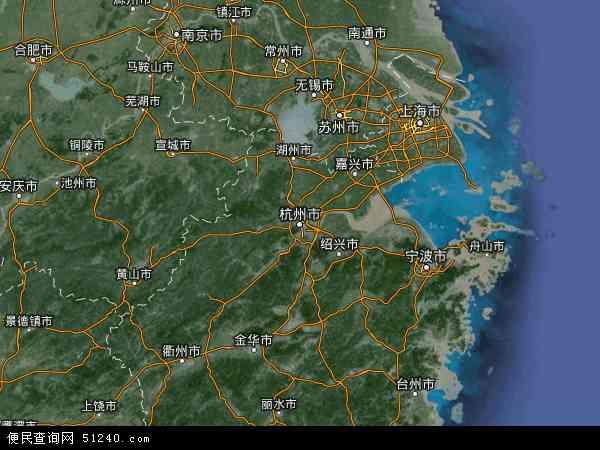 浙江省地图 - 浙江省卫星地图