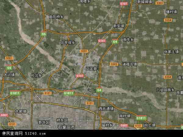 正定县地图 - 正定县卫星地图 - 正定县高清航拍