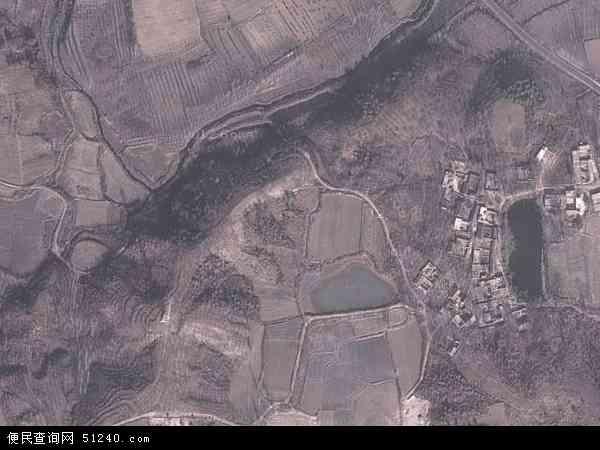 中国河南省南阳市桐柏县朱庄镇地图(卫星地图)