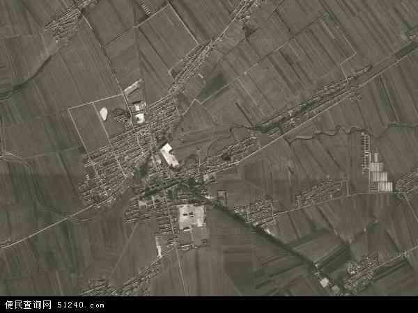 中国吉林省四平市公主岭市朝阳坡镇地图(卫星地图)