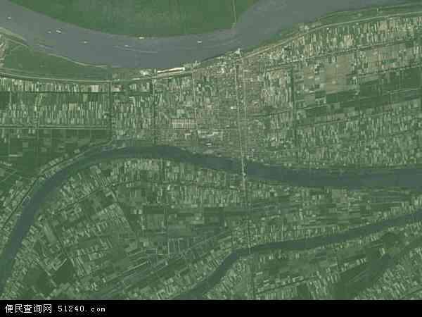 中国湖南省益阳市沅江市茶盘洲镇地图(卫星地图)