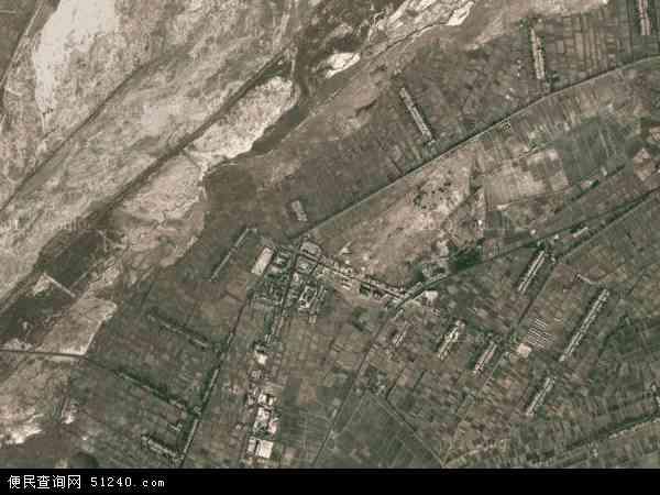 中国甘肃省酒泉市金塔县鼎新镇地图(卫星地图)