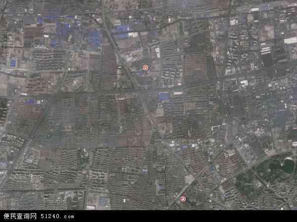 中国上海市宝山区大场镇地图(卫星地图)