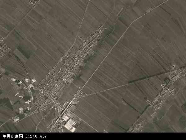 中国吉林省四平市公主岭市大榆树镇地图(卫星地图)