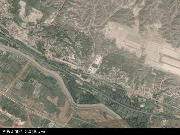中国青海省海东市互助土族自治县高寨镇地图(卫星地图)
