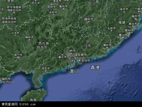 广东省地图 - 广东省卫星地图