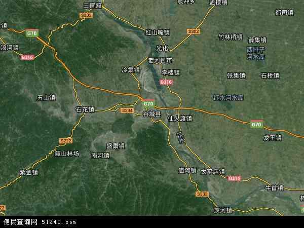 卫星地图 谷城县2018年卫星地图 中国湖北省襄阳市谷城县地图
