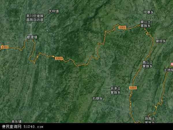 中国贵州省铜仁市德江县高山镇地图(卫星地图)