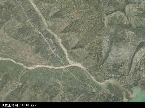 中国甘肃省陇南市礼县红河乡地图(卫星地图)