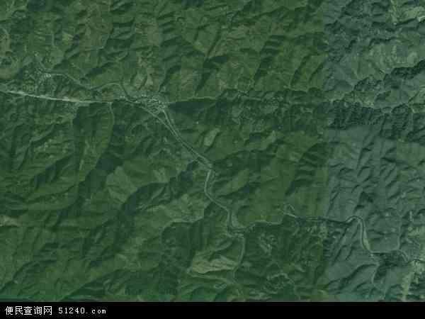 中国湖南省怀化市鹤城区贺家田乡地图(卫星地图)