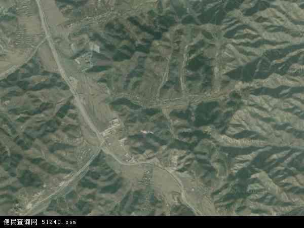 中国辽宁省葫芦岛市建昌县贺杖子乡地图(卫星地图)