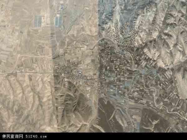 中国甘肃省白银市平川区黄峤乡地图(卫星地图)