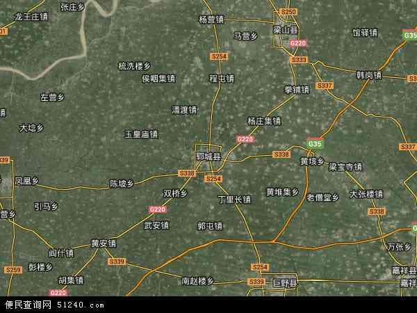 中国山东省菏泽市郓城县黄堆集镇地图(卫星地图)
