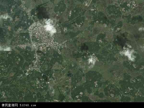 中国海南省省直辖县级行政区划文昌市锦山镇地图(卫星地图)