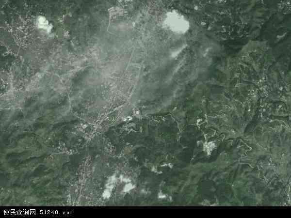 中国福建省三明市大田县建设镇地图(卫星地图)