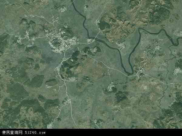 中国贵州省安顺市西秀区旧州镇地图(卫星地图)