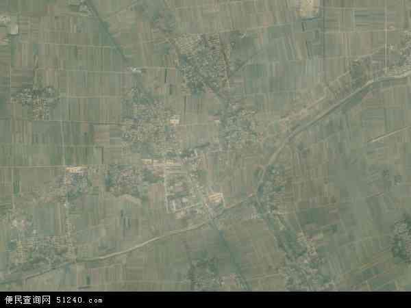 中国河北省衡水市景县洚河流镇地图(卫星地图)