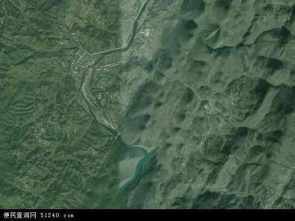 中国湖南省张家界市桑植县廖家村镇地图 卫星地图